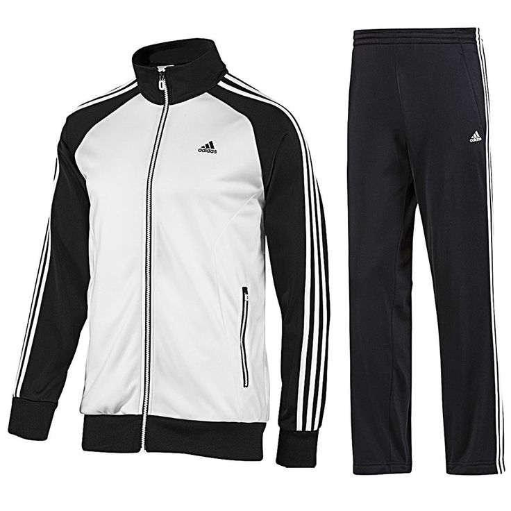 Adidas Mens Tracksuit JogSuit 3S Riberio Retro Black/White Navy/Red S- 4XL F80907 at Amazon Men's Clothing store: