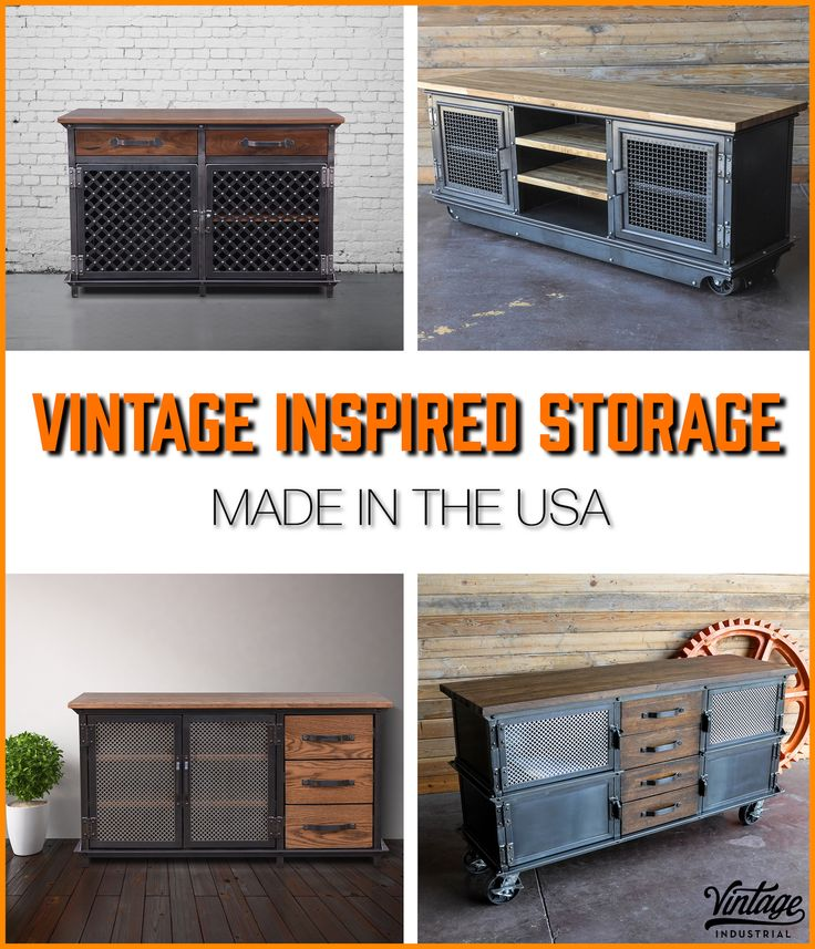 Industrial Consoles And Media Storage By Vintage Industrial In Phoenix.