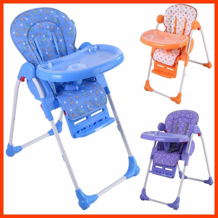 Trona de bebe silla comedor para ninos con bandeja ajustable plegable BB4544
