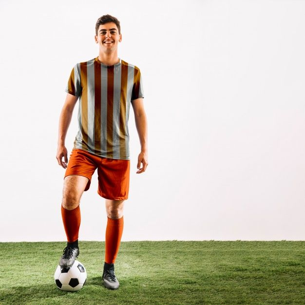 Download Free Football Player Scene Mockup In Psd Football Player Scene Mockup Psd Free Football Football Players Football
