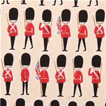 Tela oxford color natural viaje Londres Guardia de Kokka