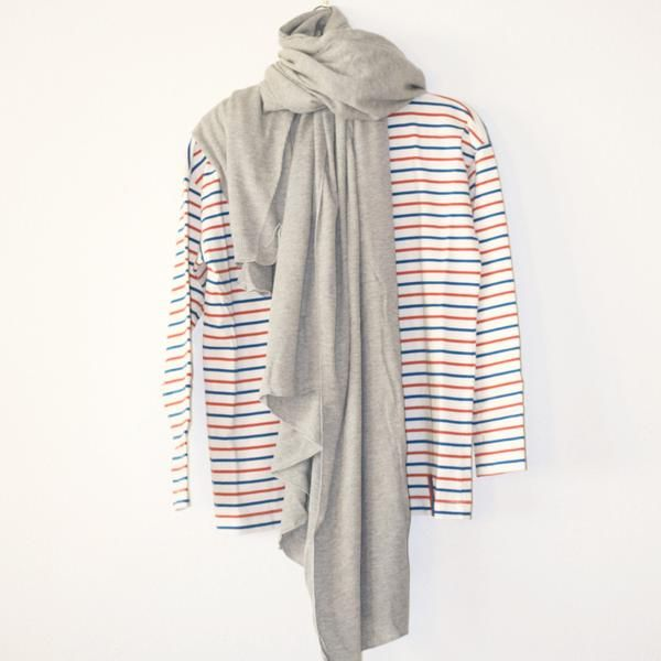 Thermal Blanket Scarf in Heather Grey