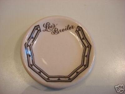 Vintage Adv Restaurant Ware Butter Pat LEE'S BROILER (02/03/2008)