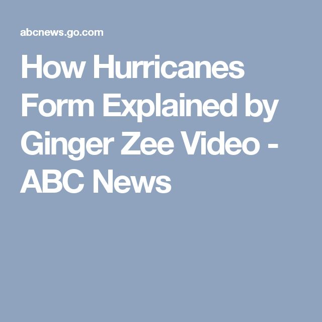 How Hurricanes Form Explained by Ginger Zee Video - ABC News