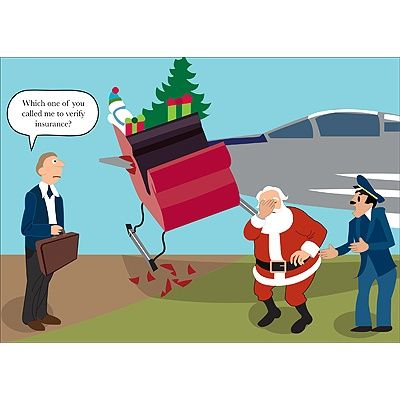 Christmas Insurance humor! Santa needs insurance too!  www.bowersinsurance.com