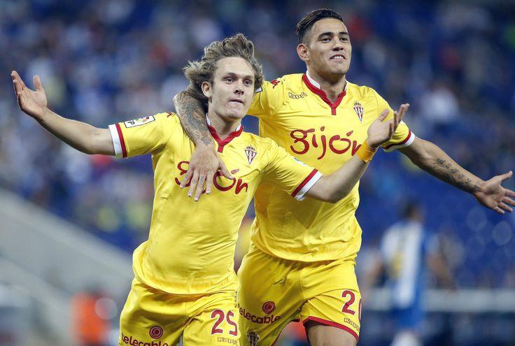 @SportingGijón Alen Halilović y Antonio Sanabria #9ine