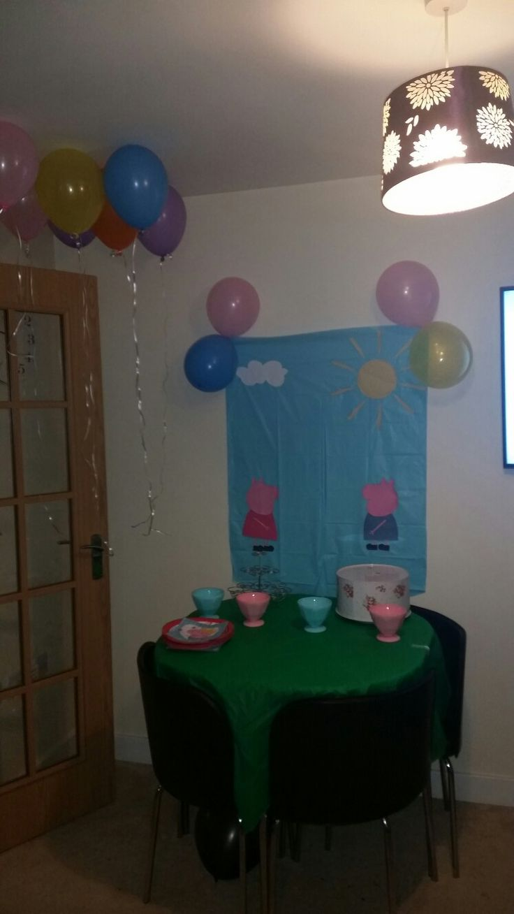 Peppa Pug themed party