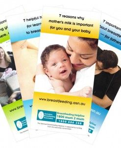 Breastfeeding Education Pamphlet from the Australia Breastfeeding Association – Set of 4. DL size (100mm × 210mm).  Includes four titles helpful for the promotion of breastfeeding. Each title comes as a pack of 25.