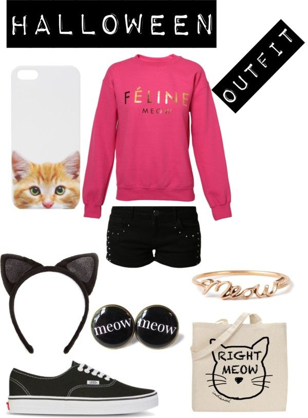 """""""HALLOWEEN OUTFIT """"CAT"""""""" by azarethl ❤ liked on Polyvore"""