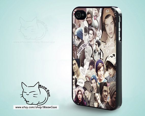 Harry Styles & Niall Horan 1D iPhone 5 Case,iPhone 5S Case,iPhone 4S Case, iPhone 4 Case,iPhone Case - case color black,white,clear on Etsy, $8.99