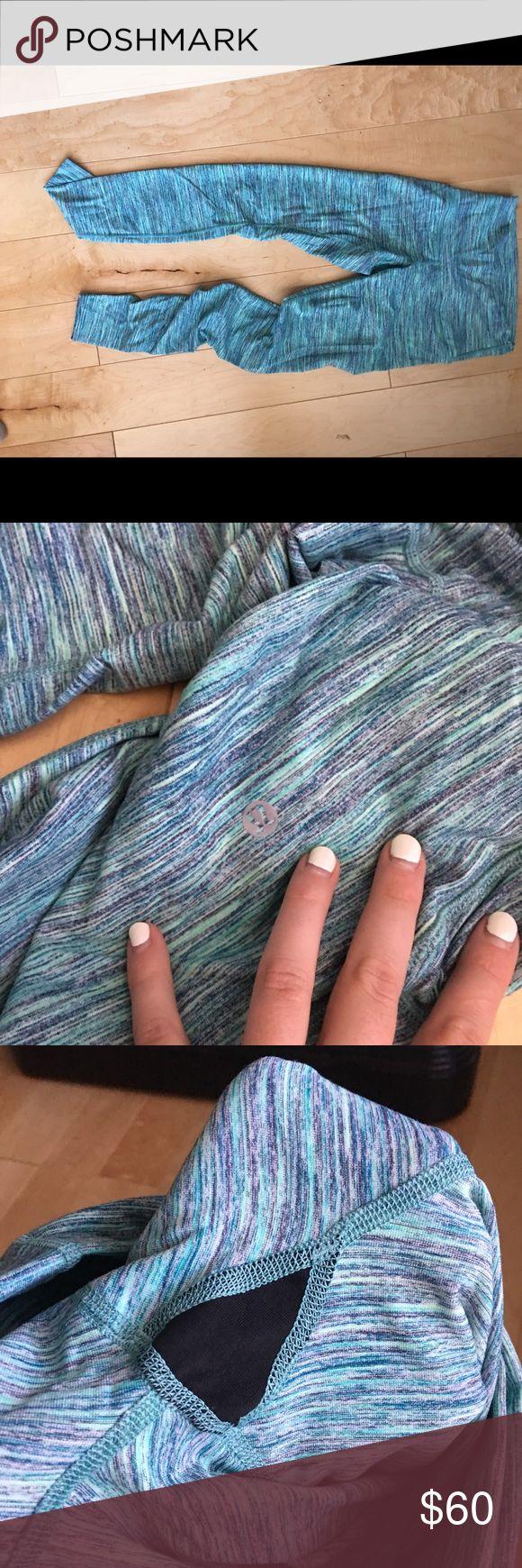 Lululemon leggings size 6 Multi color leggings! Lulu in good condition Inside tag torn out lululemon athletica Pants Leggings