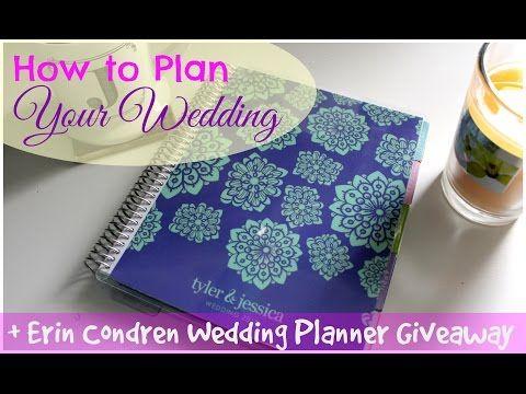 How to Plan Your Wedding | Erin Condren Wedding Planner + Giveaway - YouTube  #ecweddingplanner