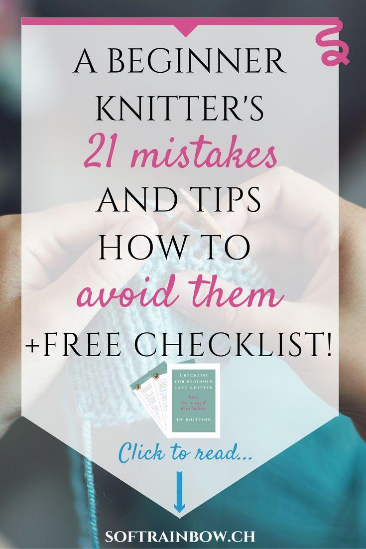 beginner knitter | mistakes | knitting tips | free checklist More
