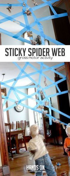 A Sticky Spider Web Activity for Kids – hands on : as we grow