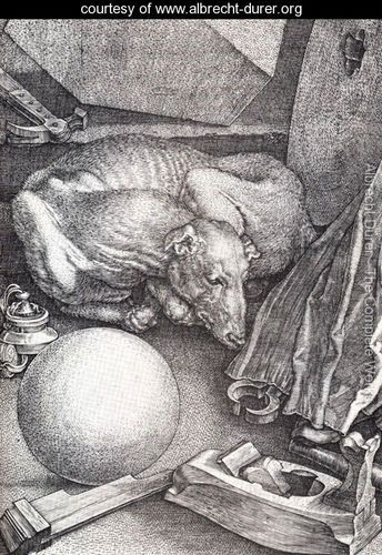Melencolia I is a 1514 engraving by the German Renaissance master Albrecht Dürer. It is an allegorical composition which has been the subject of many interpretations.