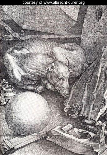 Melencolia I (detail) - Albrecht Durer - www.albrecht-durer.org