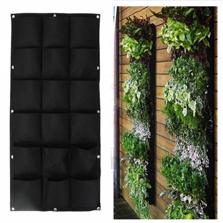 Green Vertical Garden Planter Wall-mounted Planting Flower Grow Bag 7 Pocket @*