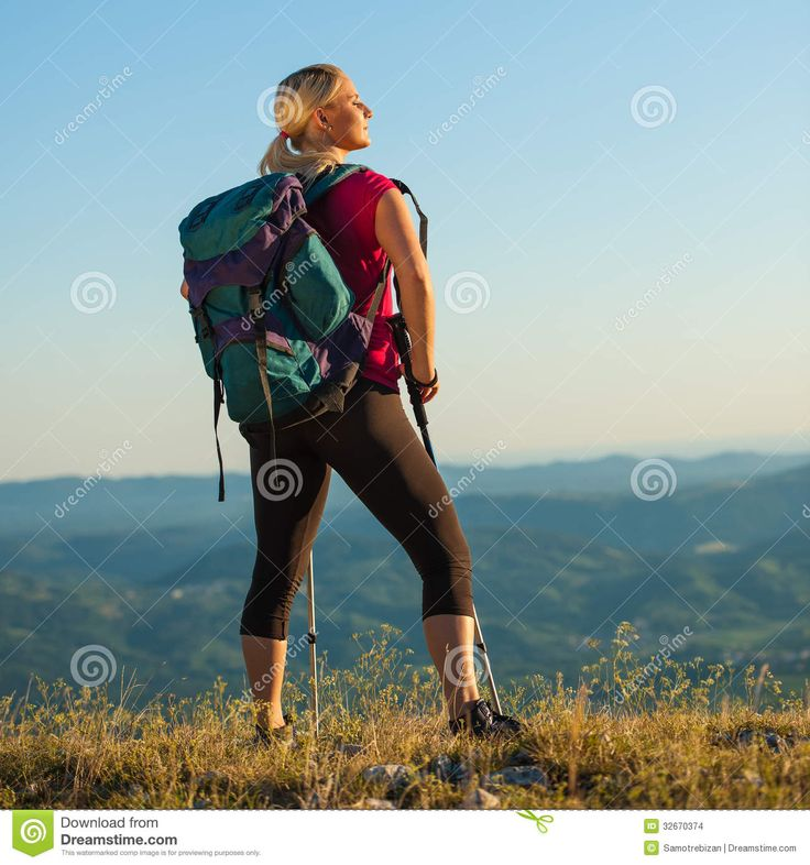 Example styling, strong fit woman enjoying the excersise and landscape
