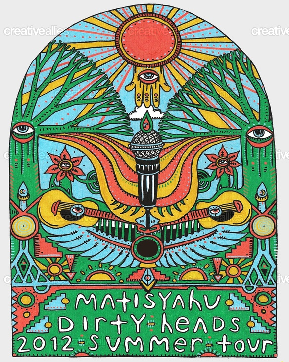 Designed by bokor for the contest to create a tour poster for Matisyahu & The Dirty Heads North American Summer 2012 Tour #music