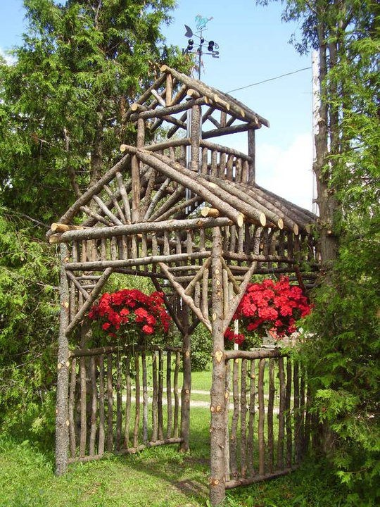 walk thru arbor - love this!: Gardens Ideas, Outdoor Wedding, Outdoor Ceremony, Ft Tall, Red Flower, Discard Branches, Ft Squares, Gardens Trellis, Backyard Gardens