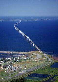 CONFEDERATION Bridge 8 miles long connecting NB to PEI