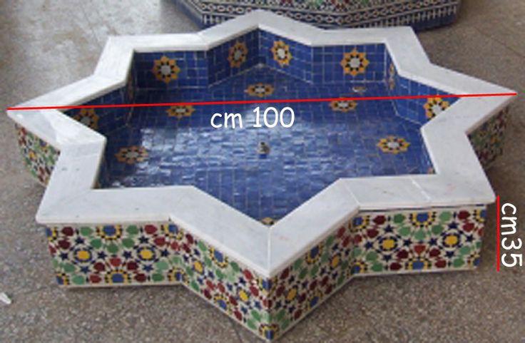 fontana in zellige totalmente realizzata a mano dai nostri artigiani marocchini