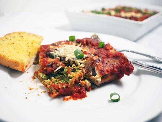 Spinach & Chickpea Cannelloni