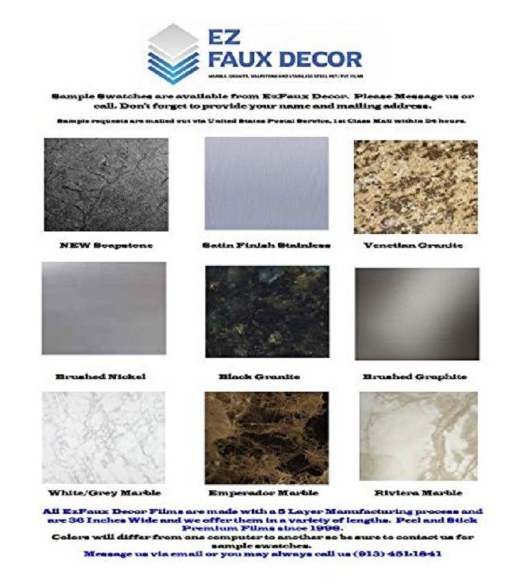 Ezfaux Decor S Bubble Resistant Self Adhesive Pvc Granite Film Is Manufactured From Upcycled Plastics Which Are P Kitchen Countertops Countertops Faux Granite