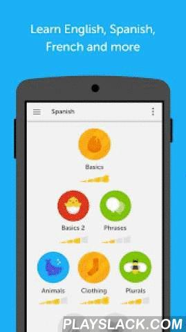 "Duolingo: Learn Languages Free  Android App - playslack.com ,  Learn English, Spanish, French, German, Italian, Portuguese, Dutch, Irish, Danish, Swedish, Russian, Ukrainian, Esperanto, Polish and Turkish — It's fast, fun and free.Practice speaking, reading, listening and writing. Play a game, answer questions and complete lessons to improve your vocabulary and grammar. Start with basic verbs, phrases, and sentences, and learn new words daily.• Editor's Choice and ""Best of the Best"" —Google…"