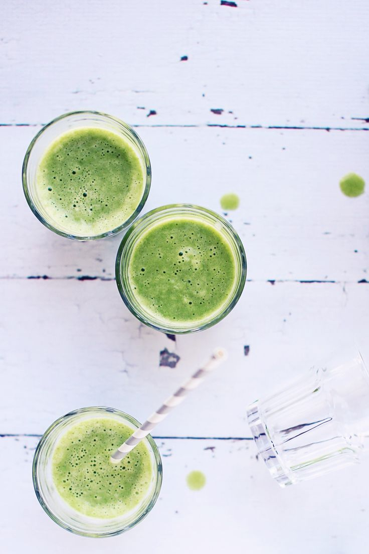 Green Coconut Water Smoothie via Foodess