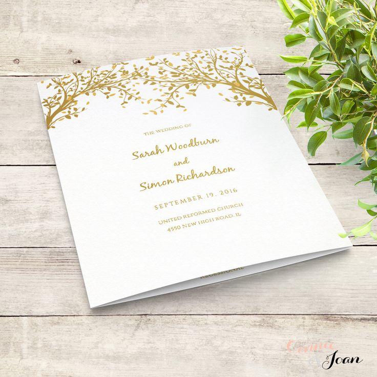 84 best Wedding programs images on Pinterest Wedding program - wedding brochure template