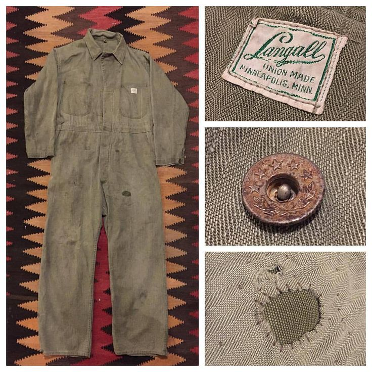 Working on mending/patching these mechanic's coveralls back to working condition. #hbt #unionmade #langall