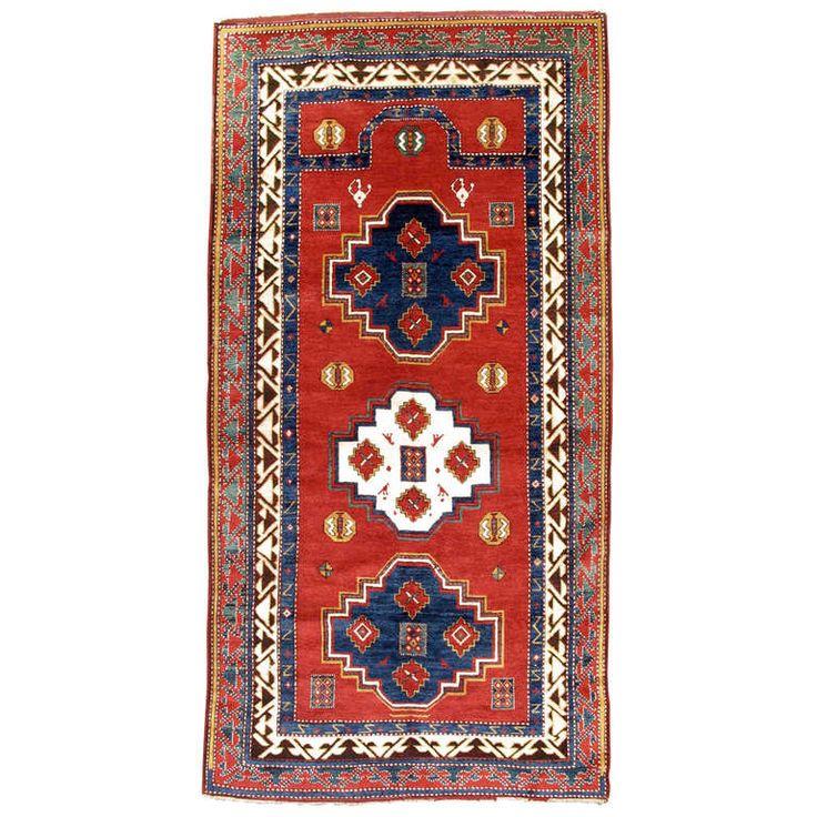 Vivid Borjalu Kazak Caucasian Prayer Rug