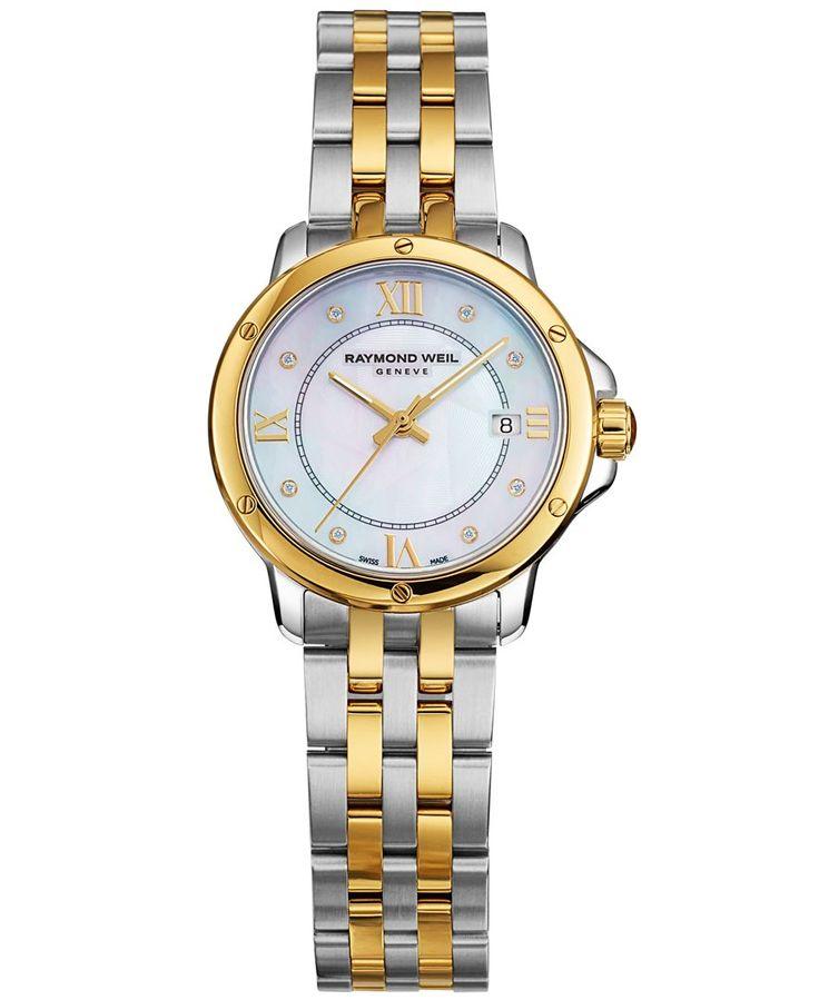 RAYMOND WEIL Watch, Women's Swiss Tango Diamond Accent Two-Tone Stainless Steel Bracelet