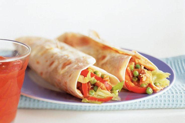 Burrito's met makreel