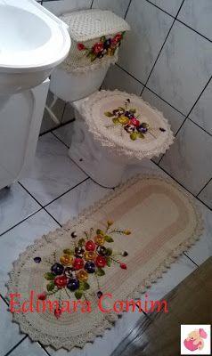 Edimara Comim : Jogo de banheiro floral