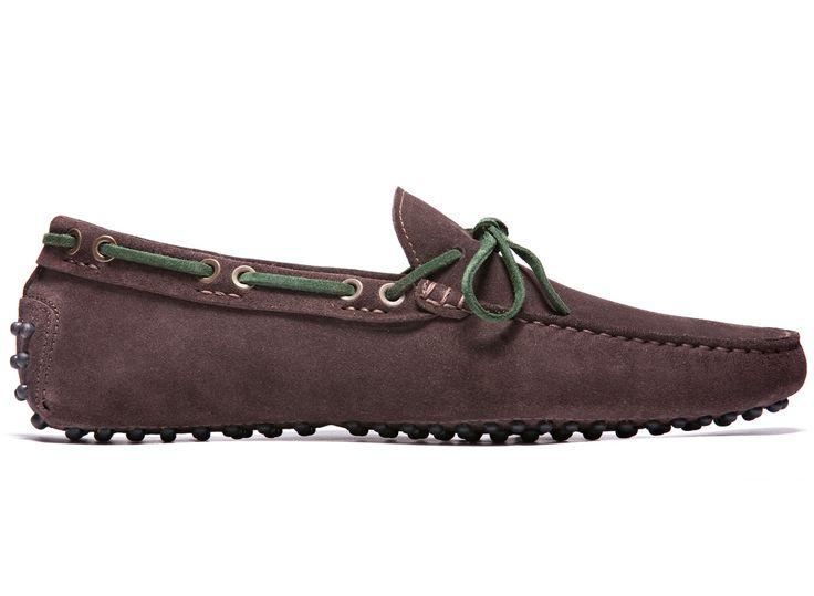 Brown Driving Moccasins in Suede Leather - El Gagà - Velasca - Men's Fashion