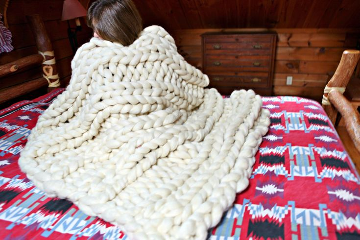 Giant-Blanket-Pattern Knit Wool Roving THE HAMPTON BEACH chunky giganto throw pdf download 4 styles, 2 sizes by TheAutumnAcorn on Etsy