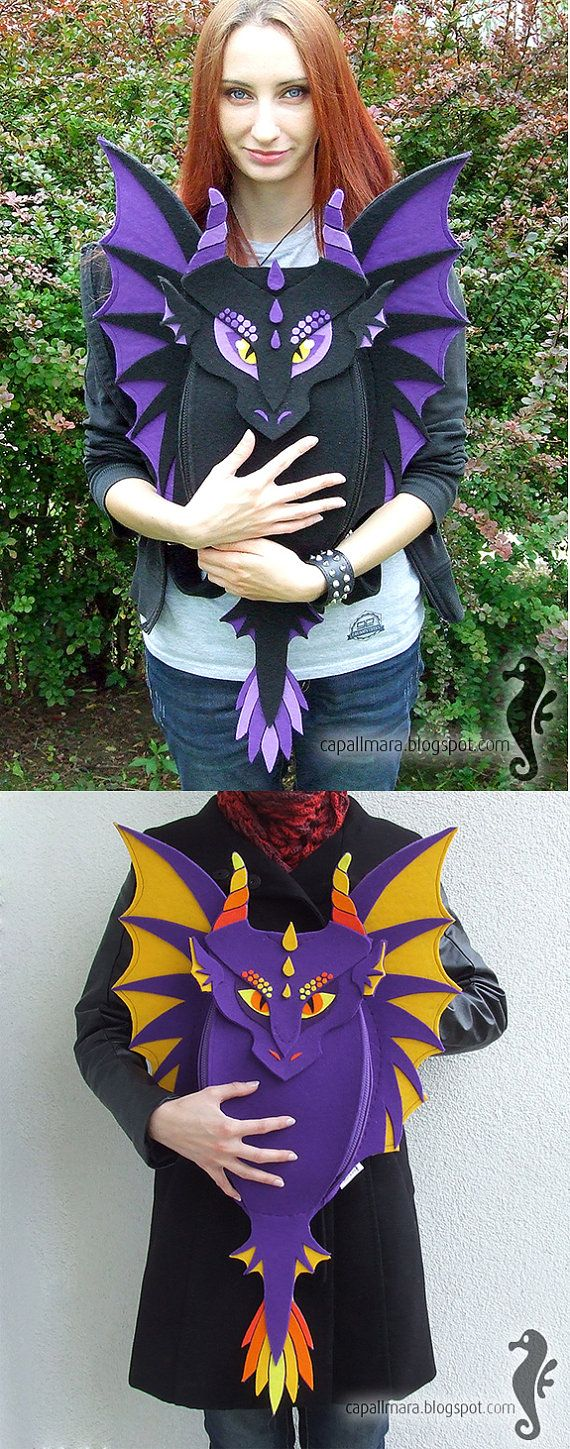 Backpack DRAGON make your own dragon funny cute by CapallMara