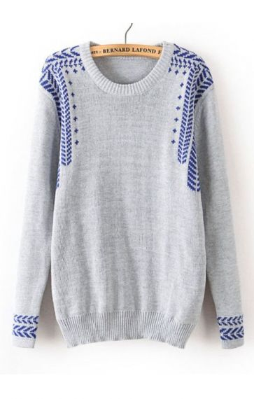 Jacquard Weave Pullover Sweater. So comfy and would look great with jeans or legings..
