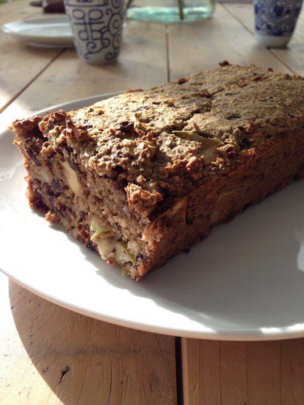 Havermout cake ( choco nibs vervangen door pure chocolade (82%) en evt. Noten toevoegen)