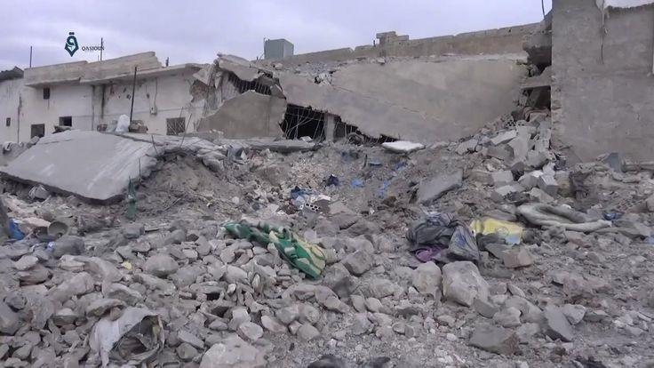 Aleppo: Destruction Caused By The Russian Warplanes' Airstrikes In Al-Tah Village