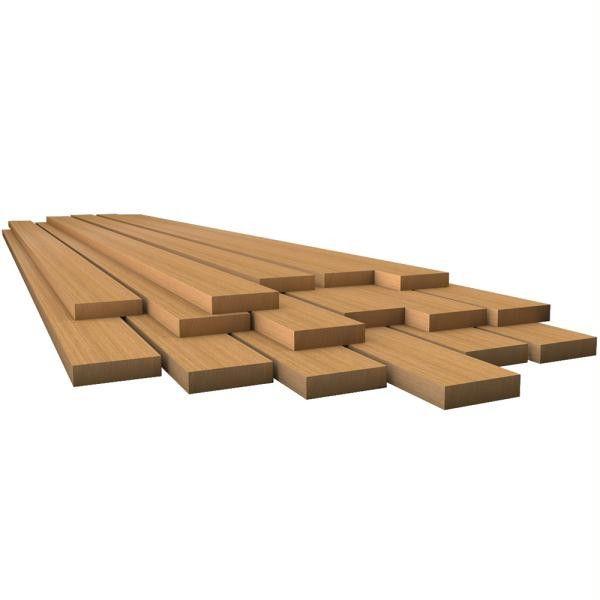 """Whitecap Teak Lumber - 1-2"""" x 1-3-4"""" x 30"""""""