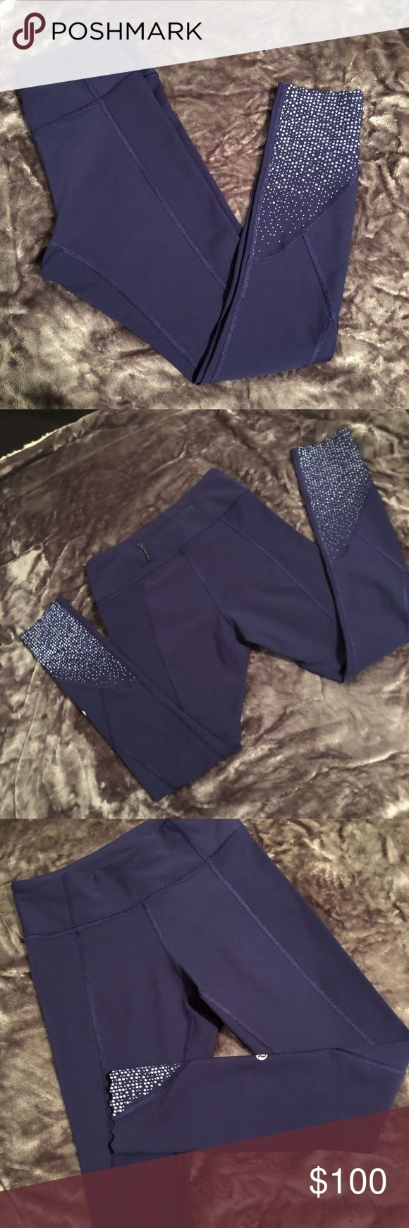 EUC Tight Stuff Tight II 1st Release In Hero Blue EUC Size 4 Tight Stuff 7/8 in Hero Blue. Amazing condition - no pills, stains or holes. Such a vibrant blue pair of leggings with really cool reflective dot and scallop detailing along the ankle. Selling because I have too many pairs of blue leggings 😅 open to trades for other similarly priced lulu 💕 feel free to ask me questions! The stock picture (of the butt ) is true to color - the lighting at my house sucks haha. lululemon athletica…