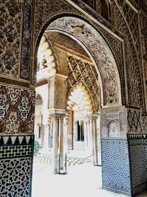 The historic architecture of Sevilla - Alcazar Palace.