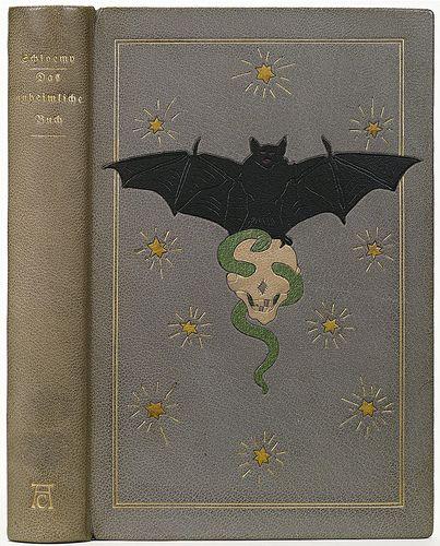 Karl Ebert 'Das unheimliche Buch' (morocco leather) 1914