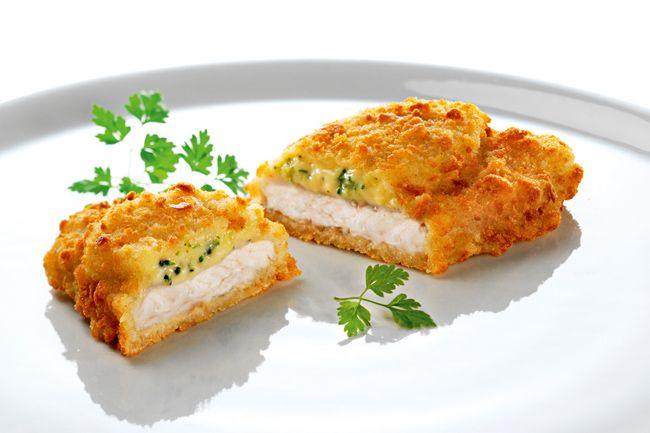Peynir ve Brokoli Soslu Panga Pane