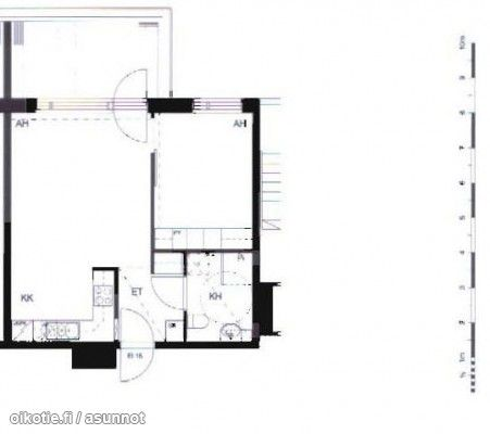 2 rooms with an open kitchen, bathroom and balcony (45m2) / Kaksio avokeittiöllä ja parvekkeella (45m2) #tehoneliöt #kaksio