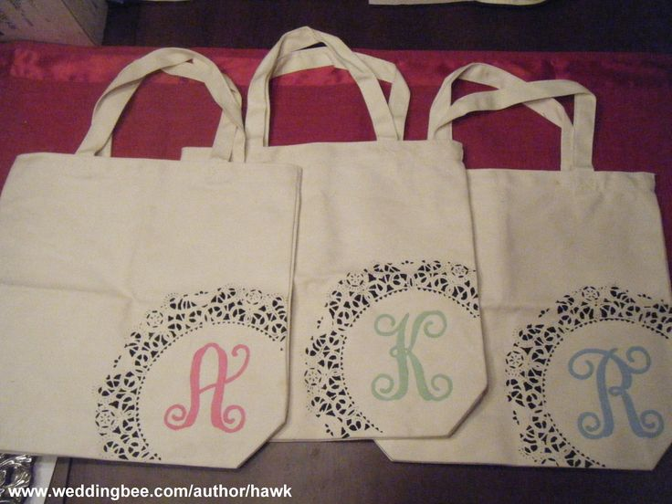 photo of diy monogram - Yahoo! Search Results  gifts for bridesmaids  diy monogramming totes  www.weddingbee.com