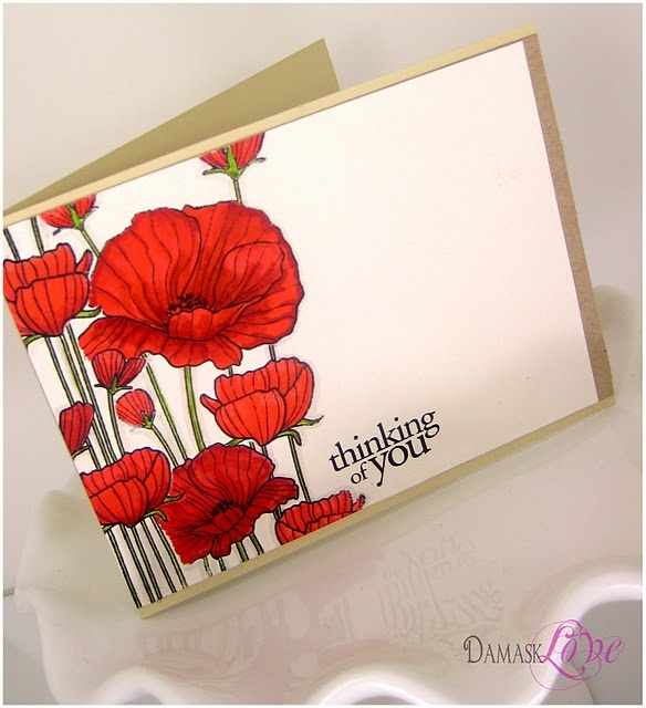 Bold and simple. Thinking of You card